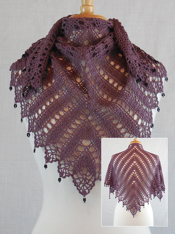 Beaded Elegance Shawl #1