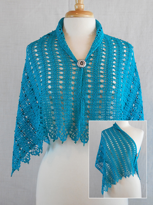 Beaded Elegance Shawl #2